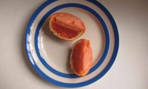 Molly O'Neill's sorbet, served in orange skins.