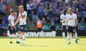 Dejection for Harry Kane after Maddison's goal.