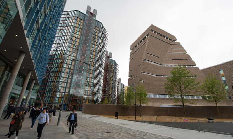 Tate Modern's extension with viewing platform and the adjacent Neo Bankside development.