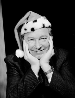 Their boss Alex Ferguson also gets into the mood for Christmas