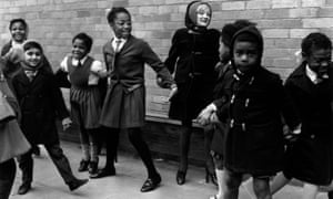 Children playing at West Park primary in 1968.