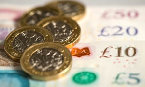 Picture of pound coins and banknotes.
