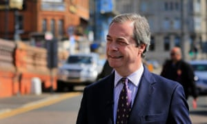 The Ukip leader, Nigel Farage, on the campaign trail in Ramsgate, Kent