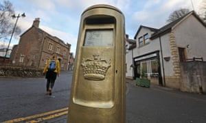 The gold postbox in Andy Murray's home town of Dunblane.