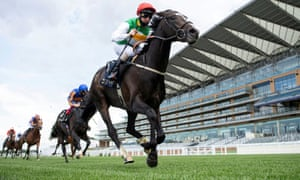 Pyledriver, ridden by Martin Dwyer, wins the King Edward VII Stakes at Royal Ascot