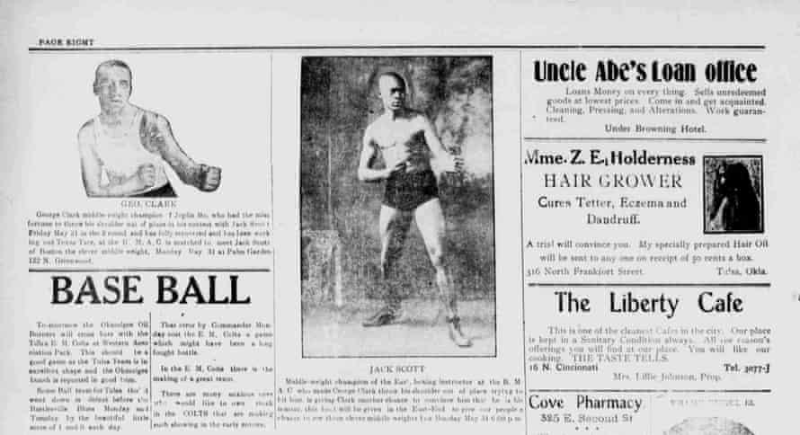 Jack Scott (center) featured in the Tulsa Star