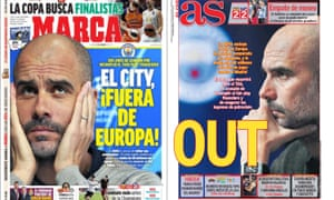 How the Spanish newspapers, Marca and AS reported Uefa's verdict.
