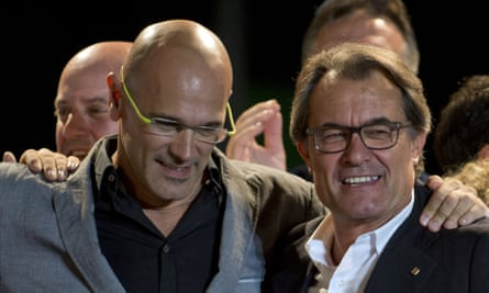 Raul Romeva and Artur Mas