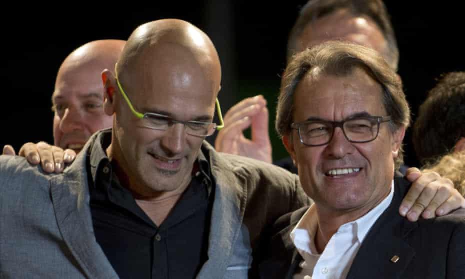 Raul Romeva and Artur Mas