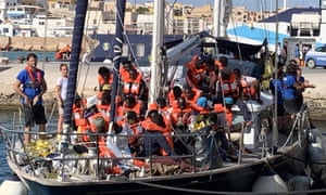 The Alex migrant rescue ship arrives in Lampedusa