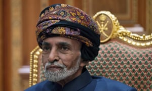 Sultan Qaboos bin Said at the royal palace in Muscat, Oman, in January 2019