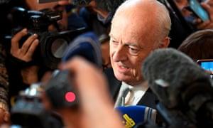 UN Syria envoy Staffan de Mistura