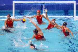 Spain v South Africa in the water polo