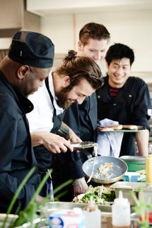 Good Hotel London - kitchen crew cooking