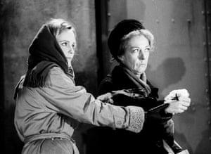 Mountain Language Miranda Richardson (L) and Eileen Atkins (R) Lyttelton, National Theatre, London, 1998.
