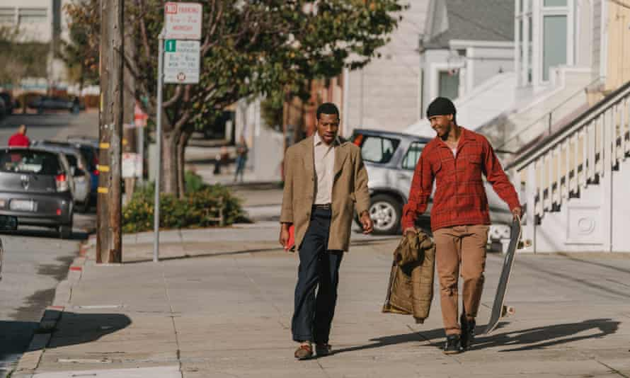 Jimmie Fails and Jonathan Majors in The Last Black Man In San Francisco.