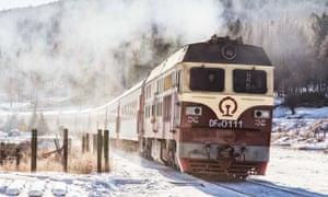 A train runs in Arxan City of Hinggan