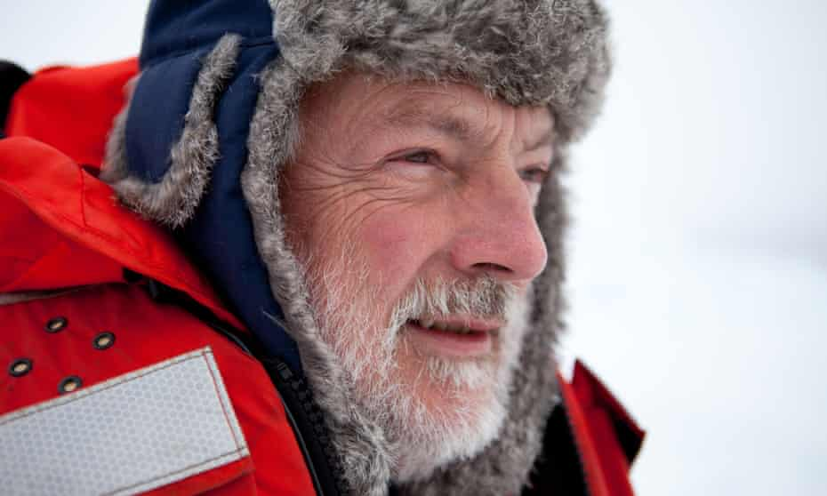 Peter Wadhams, professor of ocean physics at Cambridge University, during an expedition to the North Pole.