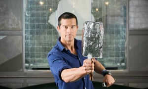 Bear Grylls in the Connaught Bar, Carlos Place, London W1.