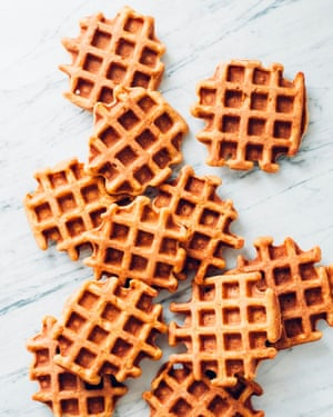 Spiced sweet potato waffles