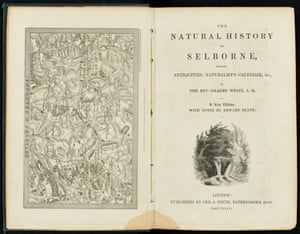 The title page from The Natural History and Antiquities of Selborne.