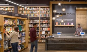 Amazon's first physical book store