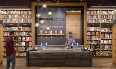 Amazon's first physical book store in Seattle