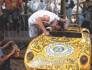 Untitled (motorized child's automobile), 1984 1962 SCAF/Mortarini Mini Ferrari 330