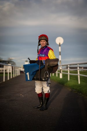 Richard Johnson the National Hunt jockey poses for a portrait at Taunton racecourse on January 13th 2016 in Somerset
