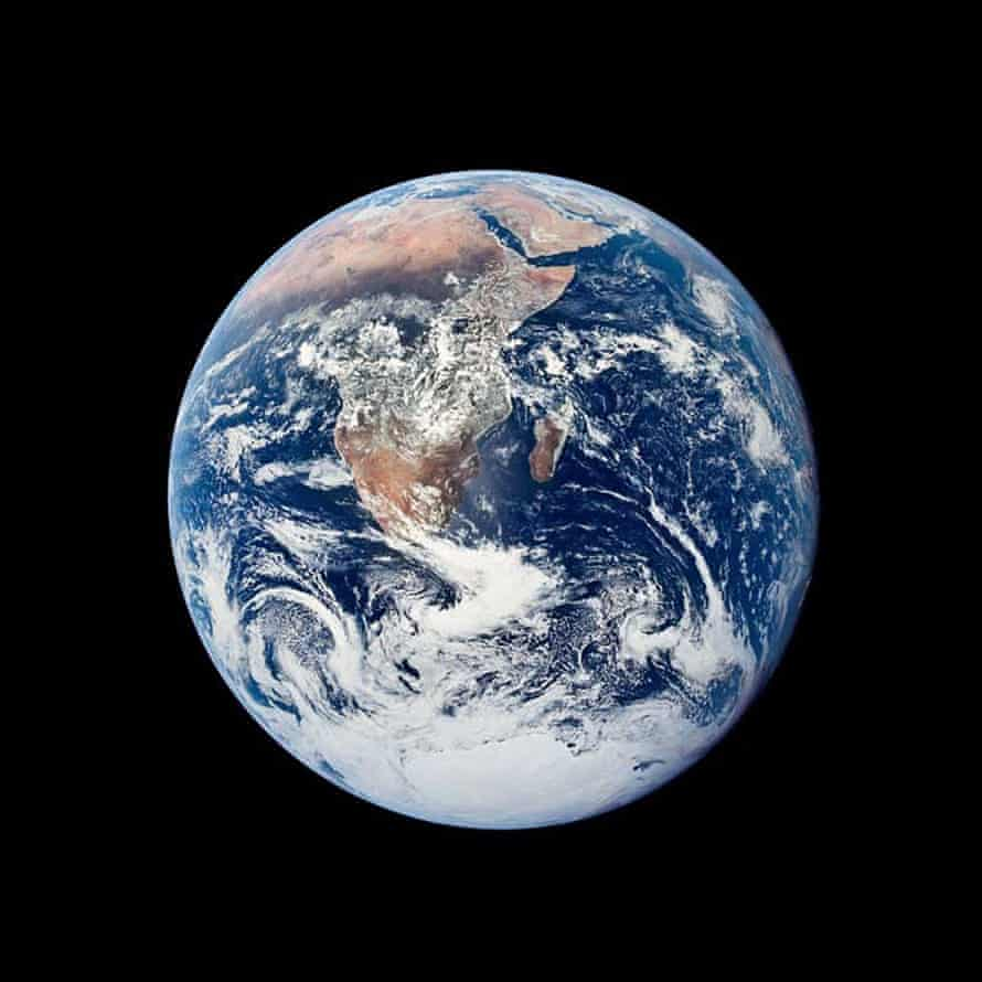 An image of the planet taken by Apollo 17, on 7 December 1972, released by Nasa to celebrate Earth Day.