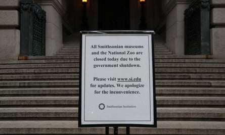 The Smithsonian museums are closed due to the government shutdown.