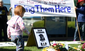 Vigil for a Rohingya refugee in front of immigration minister Peter Dutton's office in Brisbane, 31 May 2018.