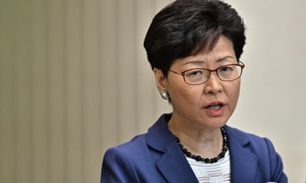 Carrie Lam speaks during a press conference