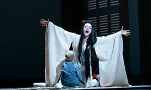 A scene from Madama Butterfly at the Royal Opera House in Covent Garden.