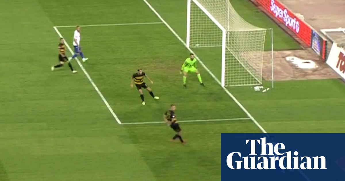 Shot or cross?: Hajduk Splits Marko Livaja scores from tightest of angles – video