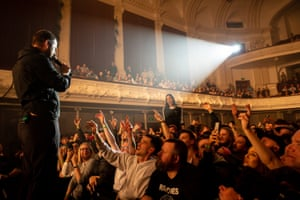 Mike Skinner of The Streets performs at Auckland town hall