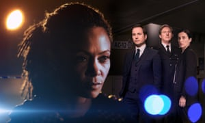 The cast of Line of Duty, from left: Thandie Newton, Martin Compston, Adrian Dunbar and Vicky McClure.