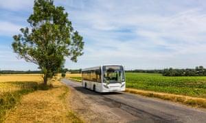 Rural bus service in Suffolk