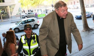 Cardinal George Pell arrives at Melbourne magistrates court in Melbourne for a preliminary hearing to fight alleged sexual offence charges.