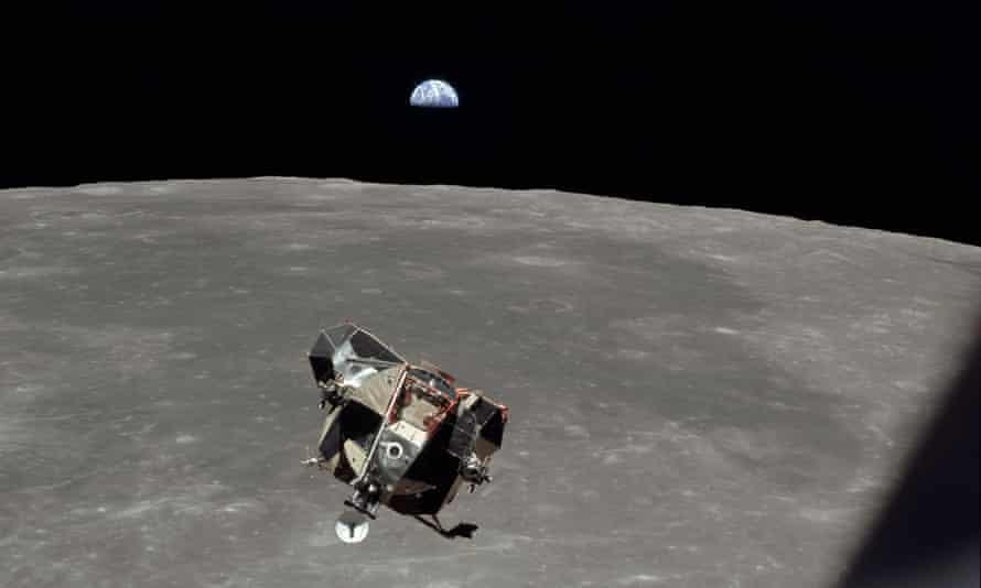 the Eagle lunar module in orbit on 20 july 1969