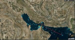 Sea traffic in the Persian Gulf