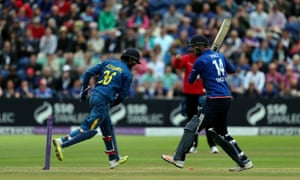 James Vince is stumped by Dinesh Chandimal.