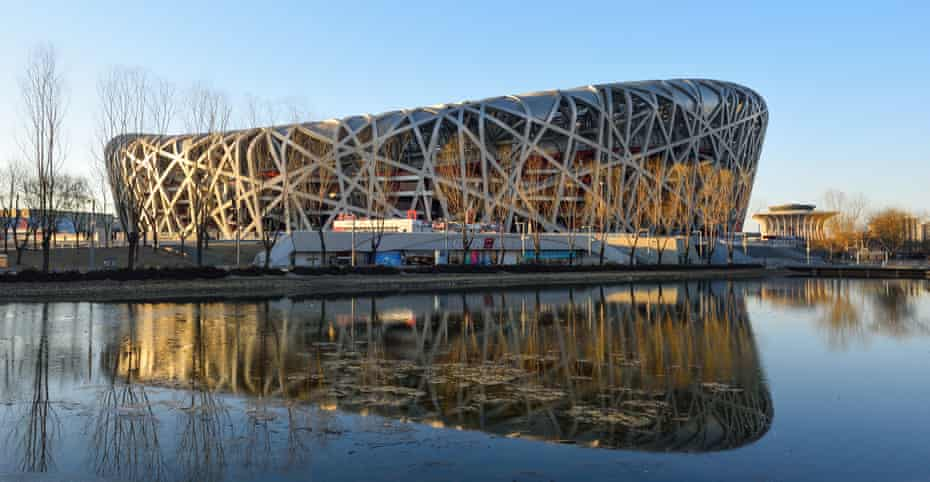 Trojan horse? … Beijing's Birds Nest, which apparently has niches for people to hide from surveillance.