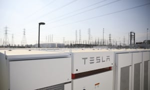 Tesla Inc. Powerpacks and inverters stand at the Southern California Edison Co. Mira Loma energy storage system facility in Ontario, California, U.S., on Thursday, June 1, 2017.