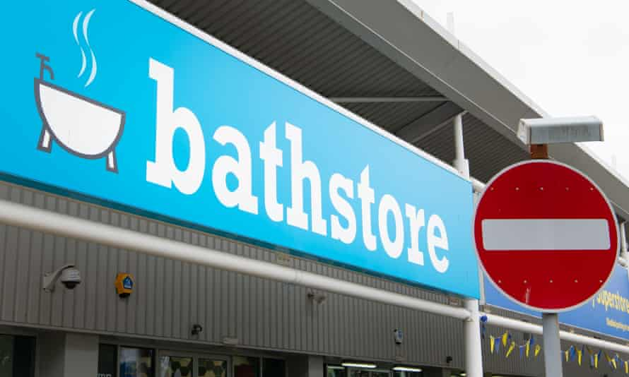 a Bathstore store and no entry sign
