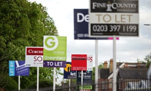 A variety of letting agents signs in London