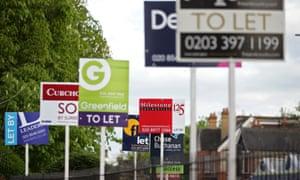 Estate agent signs