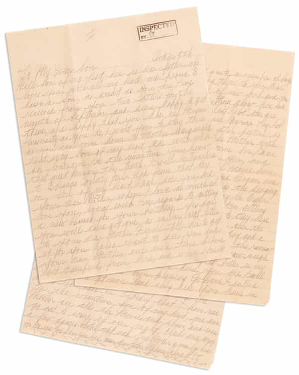 The personal letter Al Capone sent Sonny Capone, with a starting price of $12,500.