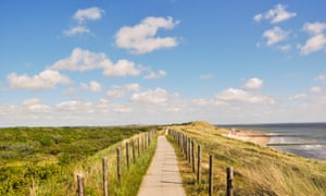 the dyke route at Westkapelle, with sea and beach