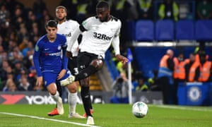A cross skewed off the ankle of Fikayo Tomori, a Chelsea loanee at Derby, to give the home side a first-half lead.